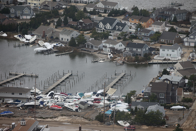 Damage inflicted by Superstorm Sandy at the Harbour Yacht Club & Marina in Brick. (Photo: U.S. Fish and Wildlife Service Northeast Region via Flickr)