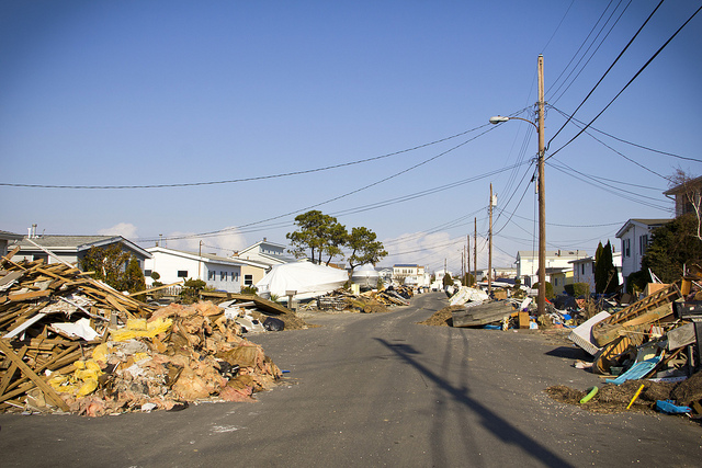Home contents fill the street in Beach Haven West on December 1, 2012. (Photo: thisisbossi via Flickr)