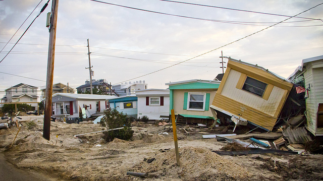 The destroyed Long Beach Island Trailer Park in Holgate on December 2, 2012, where Elizabeth Burke Beaty and her family once lived. Her husband's family purchased their unit in the early 1960s. (Photo: thisisbossi via flickr)