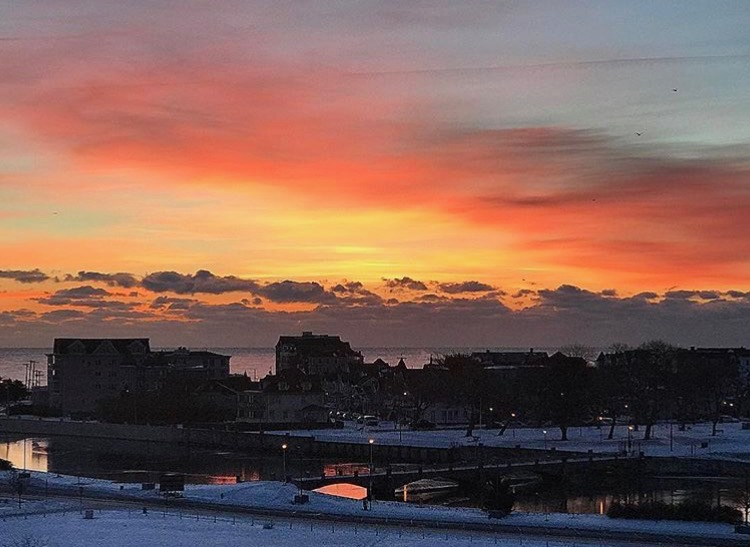 Today's sunrise in Asbury Park by @snapshotsbysuzaane as tagged #JSHN on Instagram.