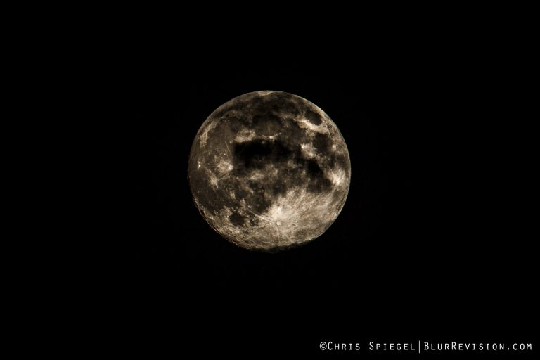 Yesterday's 97% full moon as seen from Ocean Grove by Blur Revision Media Design.