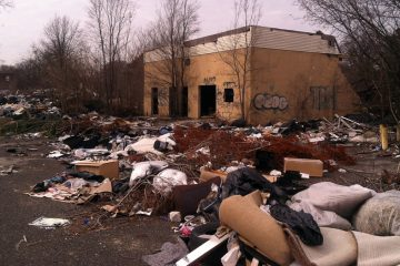 With  $200,000 grant for the Environmental Protection Agency, Camden officials intend to clean up and restore the neighborhood where this abandoned building stands. (Steve Trader/WHYY)