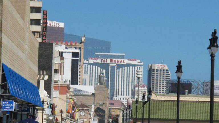 Casinos are seen along the Atlantic City boardwalk. (Phil Gregory/WHYY)