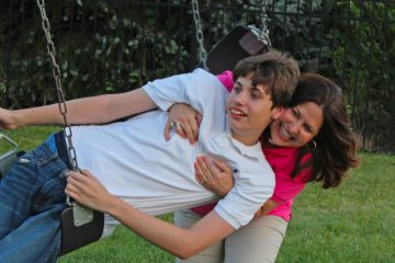 ACF CEO Linda Kuepper shares moment with son Michael, 15, who was diagnosed with autism as a toddler (Photo courtesy of RANDEX PR)