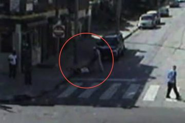 An image of the assault was captured by a police