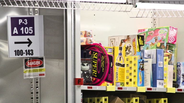 Products at Amazon's Fulfillment Center. (Kimberly Paynter/WHYY)