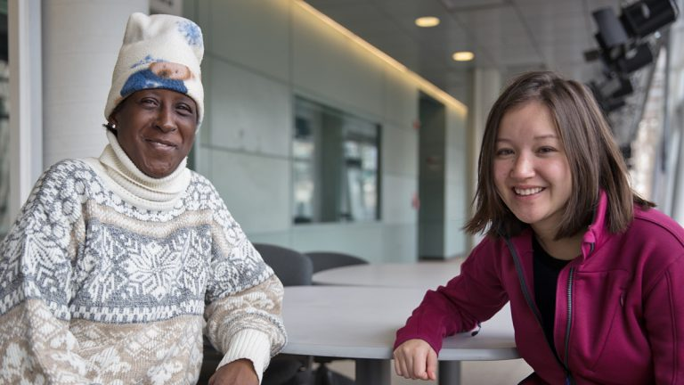 Linda Hines-Gordon (left) and Amelia Breyre recently completed Penn's LEAPP program