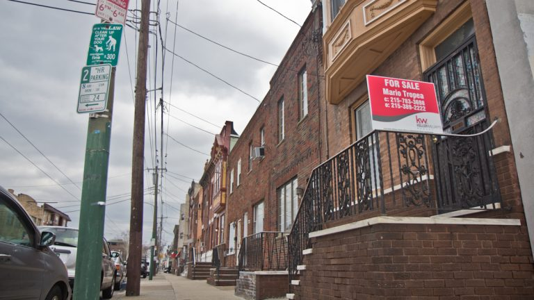 Home of the late famed criminal Angelo Bruno in South Philadelphia. (Kimberly Paynter/WHYY)