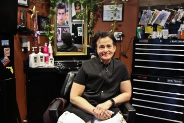 Anthony Parisio is the owner of Cut Salon in Center City, Philadelphia. (Kimberly Paynter/WHYY)