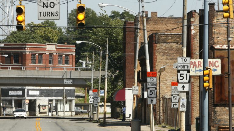 Aliquippa, once a steelmaking powerhouse about 30 miles from Pittsburgh, is one of the 20 municipalities  in financial distress under Pennsylvania's Act 47. (AP file photo)