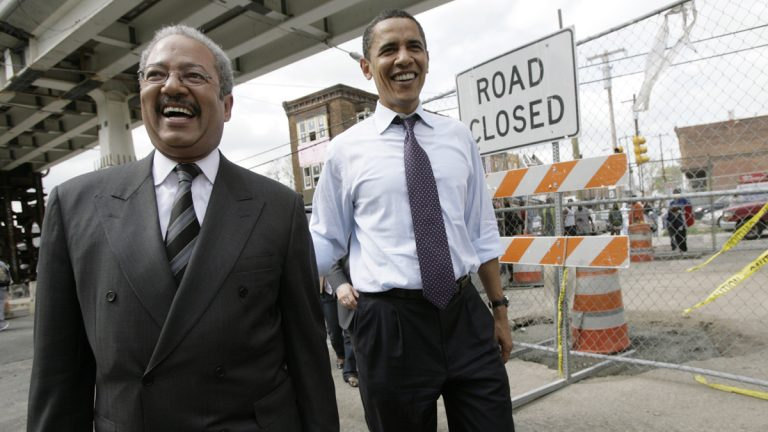 U.S. Rep. Chaka Fattah campaigns with Barack Obama in 2008 in Philadelphia. Fattah has serious reservations about Obama's Pacific Rim trade deal. (AP file photo)