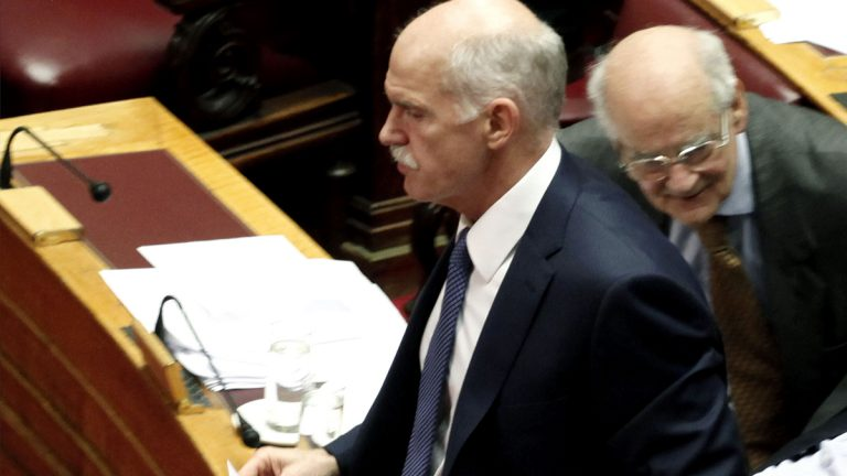 Former Greek Prime Minister George Papandreou. (AP