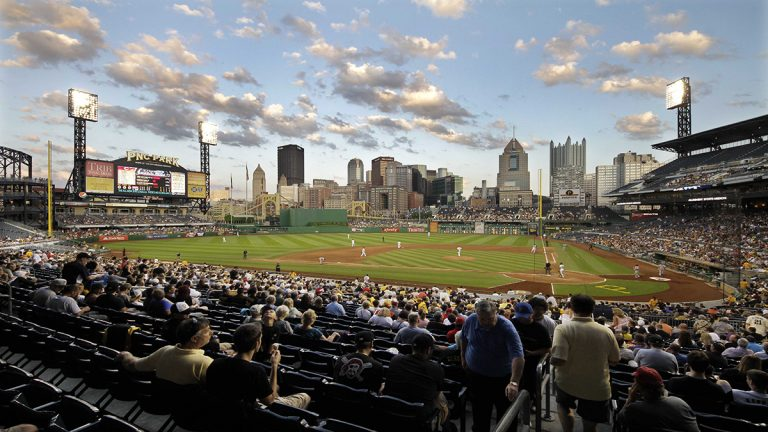 The Pittsburgh Pirates play the Cincinnati Reds in May 2012. The Pirates' home field