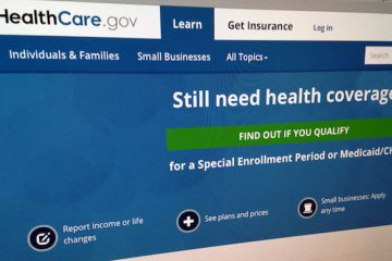 This Sept. 15, 2014, file photo shows part of the HealthCare.gov Website in Washington.  (AP Photo/Jon Elswick, File)