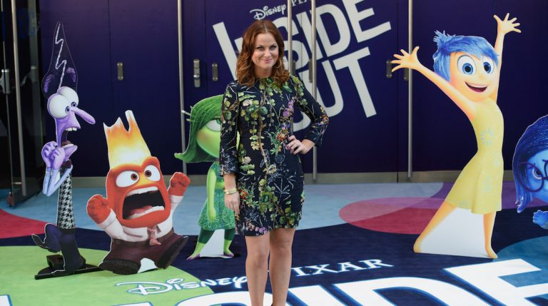 Amy Poehler arrives for the UK screening of Inside Out at a central London cinema, London, Sunday, July 19, 2015. (Photo by Jonathan Short/Invision/AP)