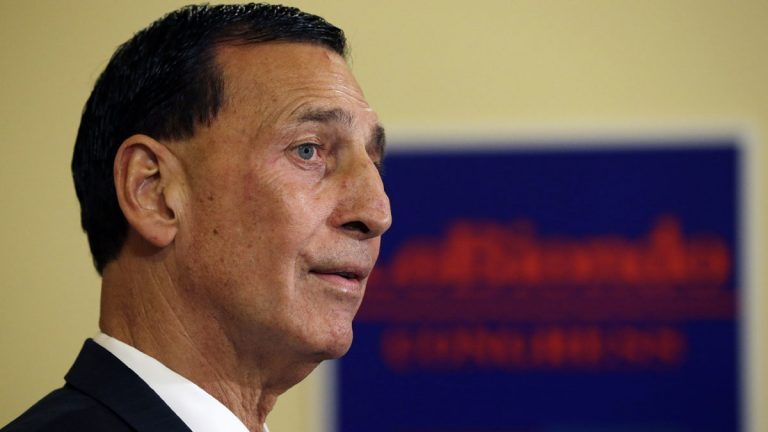 Rep. Frank LoBiondo listens to a question at the Statehouse in Trenton