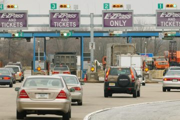 Automobiles drive into the Fort Washington Interchange of the Pennsylvania Turnpike (AP, file)