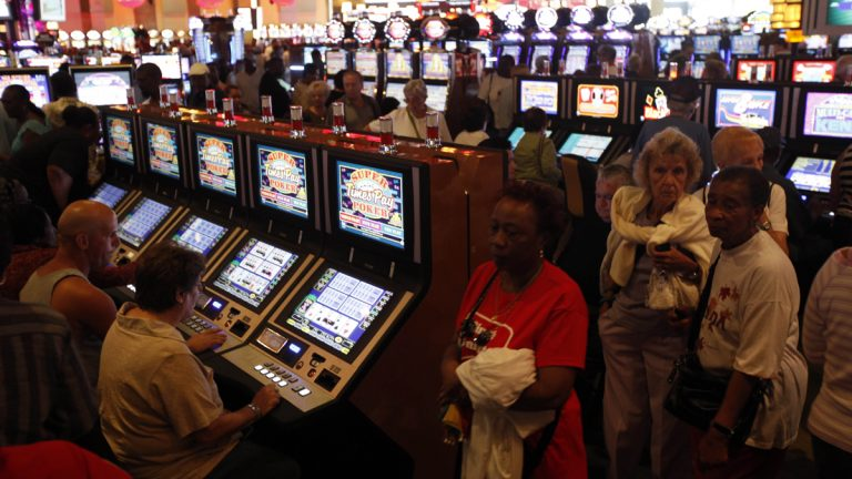 Gamblers try the luck at SugarHouse Casino in Philadelphia. It is exempt from a Pennsylvania Supreme Court ruling that the roughly 4 percent