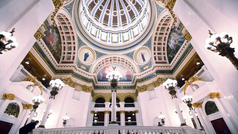 Hundreds of students are expected to rally Monday  in the Capitol Rotunda in Harrisburg to press Pennsylvania legislators on funding for  state universities. (AP file photo)