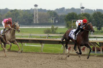 Horses race at Parx Racing in Bensalem