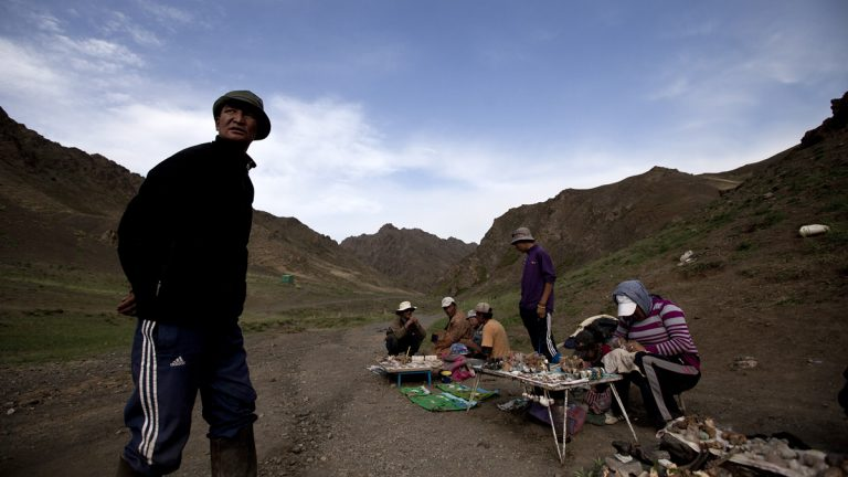The Fabulous Philadelphians  will be the first orchestra from the West to tour and perform in Mongolia when it visits in 2017. Mongolian vendors wait for customers at their souvenir stores set up at the entrance of the tourist destination Yolyn Am