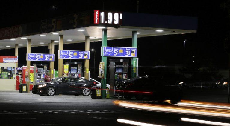 Falling gas prices dip below $2 a gallon in Texas. (AP Photo)