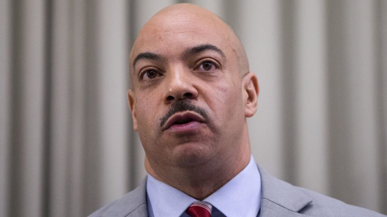 Philadelphia District Attorney Seth Williams says his Election Fraud Task Force  will keep an eye on city polling places Tuesday. And he took GOP nominee Donald Trump to task for insinuating voting fraud is to be expected in Pennsylvania.(AP Photo/Matt Rourke)