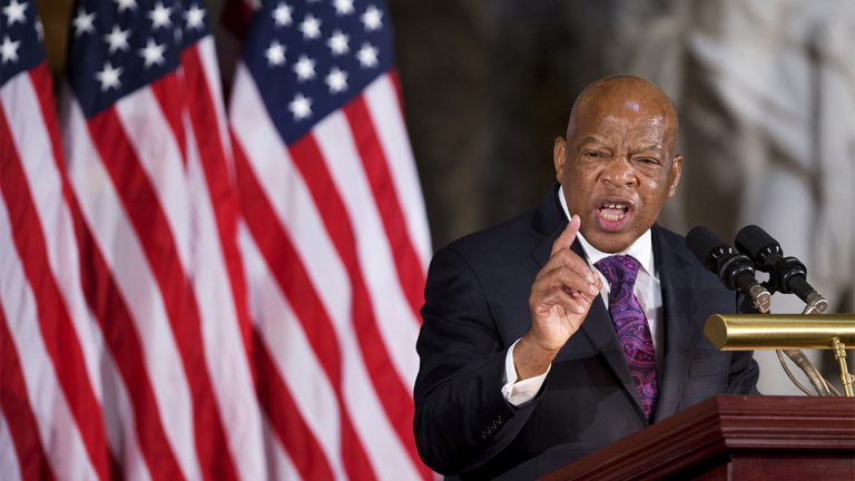Civil rights icon U.S. Rep. John Lewis will receive the National Constitution Center's 2016 Liberty Medal in a Sept. 19  ceremony honoring his dedication to civil rights. (AP Photo/Manuel Balce Ceneta
