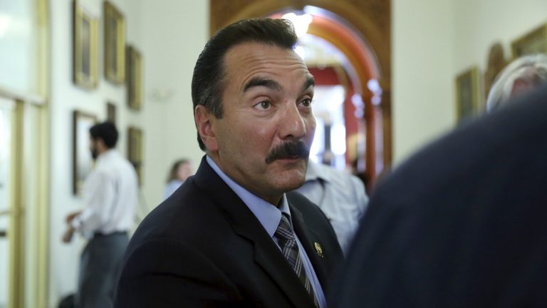 New Jersey Assembly Speaker Vinnie Prieto says quarterly payments into the state's pension systems would ensure the state makes its contributions. (AP photo/Mel Evans)