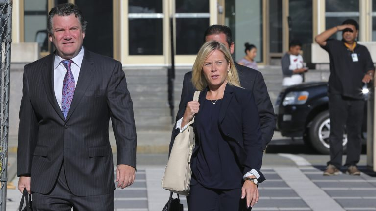 New Jersey Gov. Chris Christie's former Deputy Chief of Staff Bridget Anne Kelly (right) and her attorney