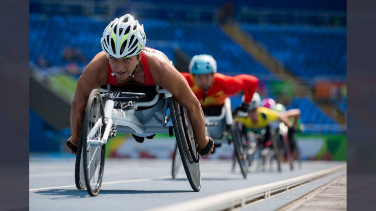 Manuela Schaer of Switzerland competes in the women's 5