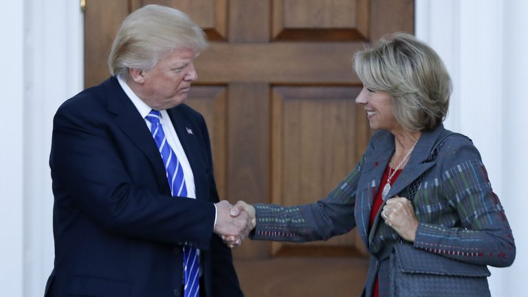 President-elect Donald Trump has tapped Michigan businesswoman Betsy DeVos for Secretary of Education. (AP Photo/Carolyn Kaster)