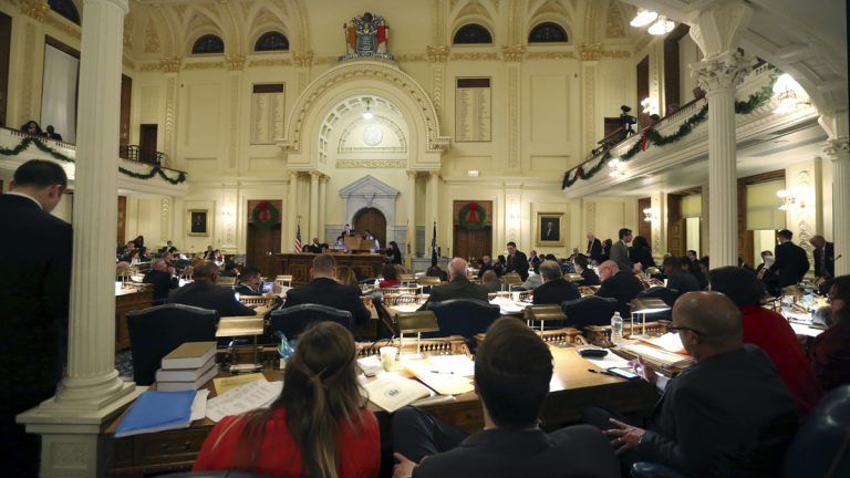 New Jersey Assembly chamber is seen during voting on bills at the Statehouse