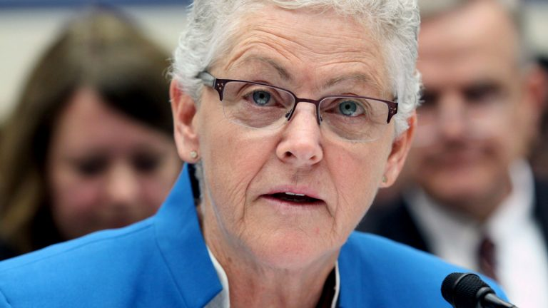 In September, Environmental Protection Agency  Administrator Gina McCarthy testifies on Capitol Hill in Washington. On Friday, New Jersey filed a court challenge to President Obama's Clean Power Plan, which aims to reduce greenhouse gas emissions. (AP Photo/Lauren Victoria Burke)