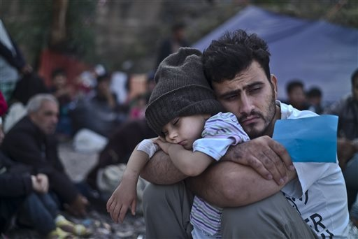 Syrian refugees (AP Photo/Muhammed Muheisen)