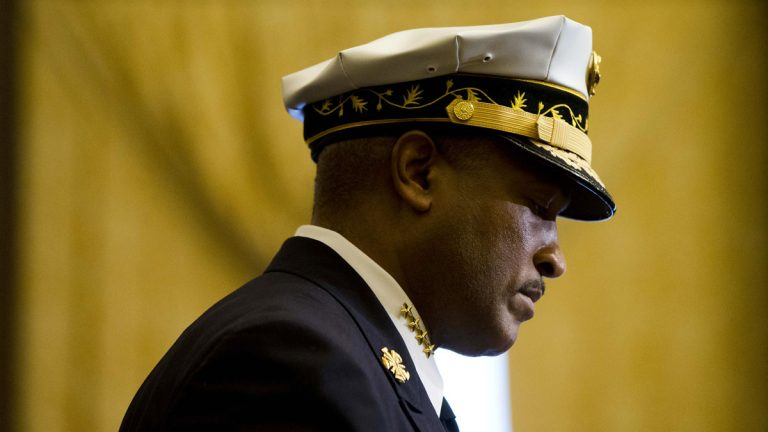 Outgoing Philadelphia Fire Commissioner Derrick Sawyer appeared before City Council for  a budget hearing Wednesday. (AP file photo)