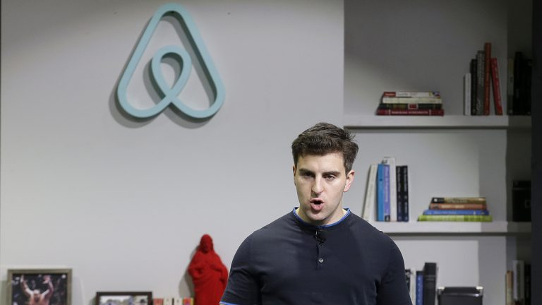 Brian Chesky is the co-founder and CEO of Airbnb. Some Pennsylvania hotel and bed and breakfast owners are taking aim at Airbnb