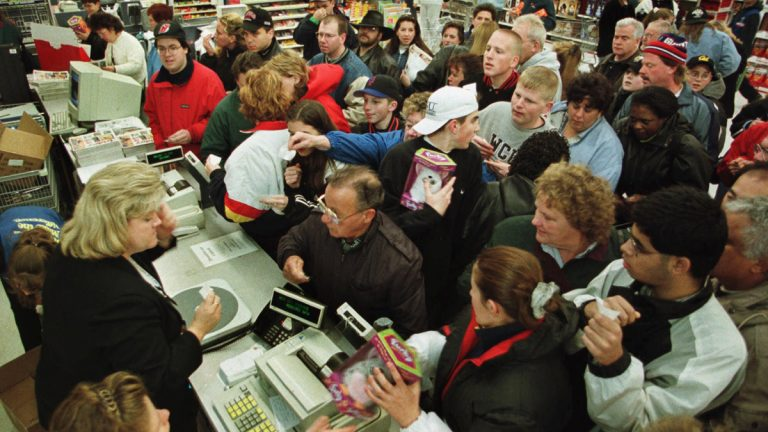 Shoppers are expected to be out in force Saturday, traditionally one of the the busiest days of the year. (AP file)