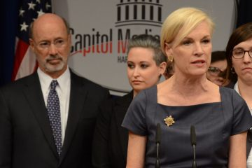 Planned Parenthood president Cecile Richards speaks at a news conference in the Pennsylvania Capitol in opposition to legislation under consideration in the Pennsylvania House of Representatives that opponents say would give Pennsylvania the nation's most restrictive abortion law Monday in Harrisburg Behind Richards are Gov. Tom Wolf