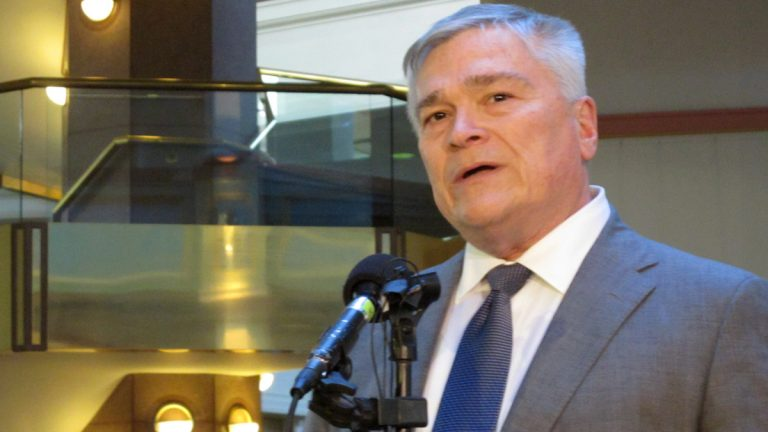 Penn State University President Eric Barron says the school's board of trustees was determined not o increase in-state tuition. (AP file photo)
