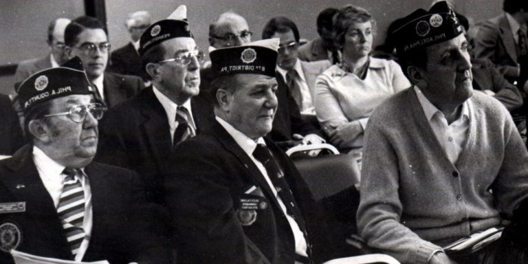 American Legion members attend a consumer protection subcommittee hearing on Legionnaires' disease in November 1976 in Philadelphia. By mid-August 1976, 34 poeple were dead and more than 180 sickened by the illness that news reporters quickly dubbed 'Legionnaires' disease.' (AP file photo)