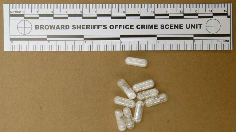 The Broward Sheriff's Office in Florida shows confiscated vials of flakka. This emerging drug can alter brain chemistry in such a way that users can't control their thoughts and it can increase adrenalin. (AP file photo)