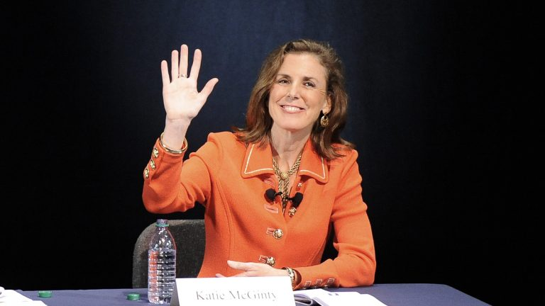 Katie McGinty, who resigned Wednesday as chief of staff to Pennsylvania Gov. Tom Wolf, is expected to launch a bid for U.S. Senate in 2016 after intense courting by national Democrats. She would not confirm Thursday that she intends to run. (AP file photo)