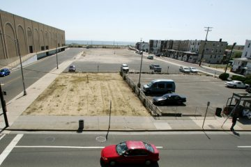 Cars drive by a vacant 2.5-acre lot in Atlantic City, N.J. (Mel Evans/AP Photo)
