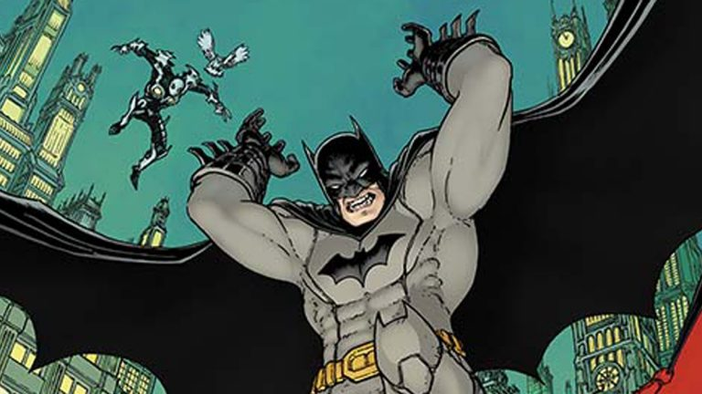 This image released by DC Comics shows an image of Batman from the new weekly series