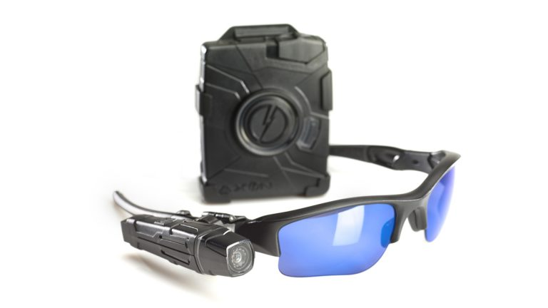 Taser's Axon flex and body cameras. (PRNewsFoto/TASER International)