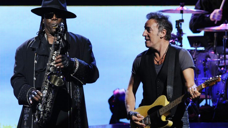 Bruce Springsteen performs alongside Clarence Clemons of the E Street Band (Chris Pizzello/AP Photo)