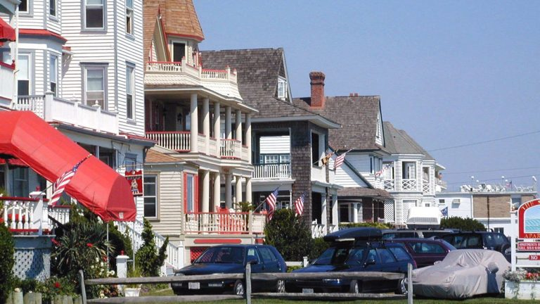 A row of Victorian houses are shown along the shore in Cape May, N.J. (Dave Langford/AP Photo)