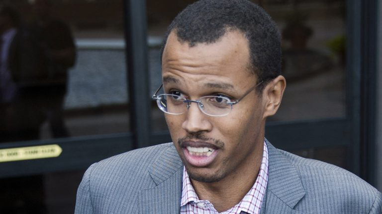 Chakka Fattah Jr. speaks to members of the mediain the AP file photo (Matt Rourke/AP Photo)
