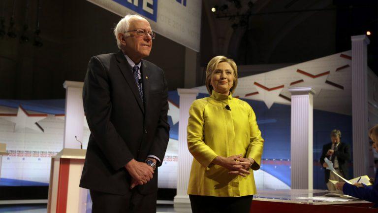 Democratic presidential candidates Sen. Bernie Sanders